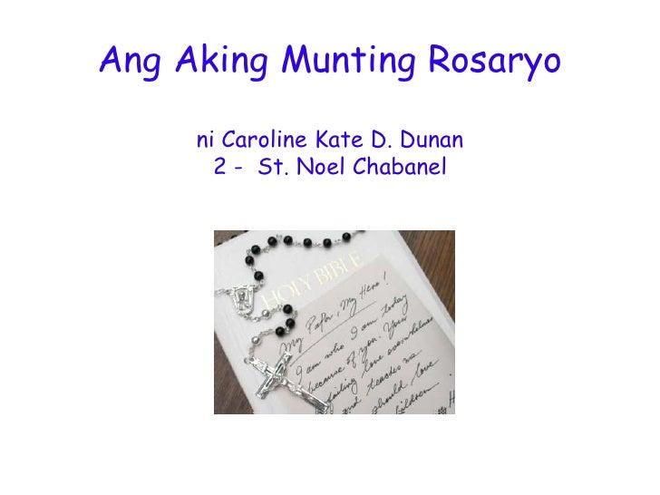 Ang Aking Munting Rosaryo ni Caroline Kate Dunan