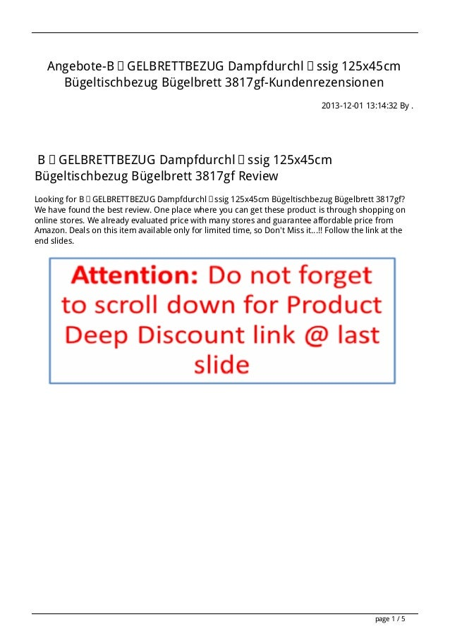 Angebote-BÜGELBRETTBEZUG Dampfdurchlässig 125x45cm Bügeltischbezug Bügelbrett 3817gf-Kundenrezensionen 2013-12-01 13:14:32...
