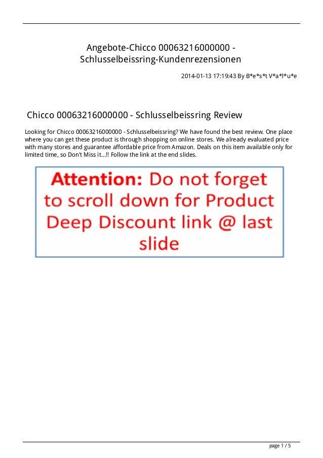 Angebote-Chicco 00063216000000 Schlusselbeissring-Kundenrezensionen 2014-01-13 17:19:43 By B*e*s*t V*a*l*u*e  Chicco 00063...