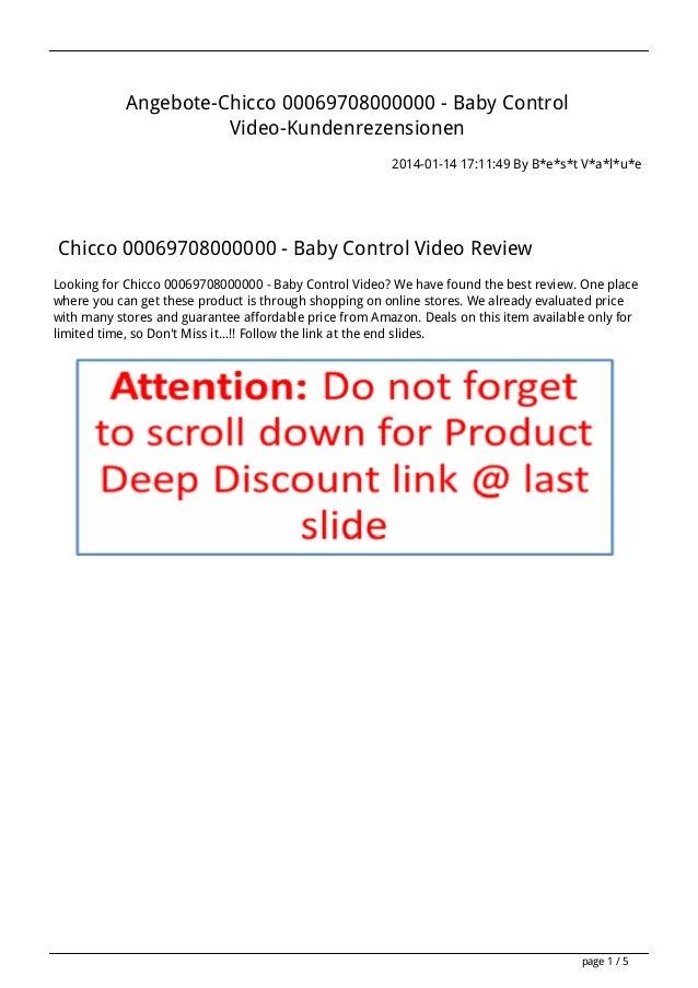 Angebote chicco-00069708000000-baby-control-video-kundenrezensionen