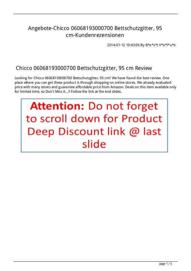 Angebote chicco-06068193000700-bettschutzgitter-95-cm-kundenrezensionen