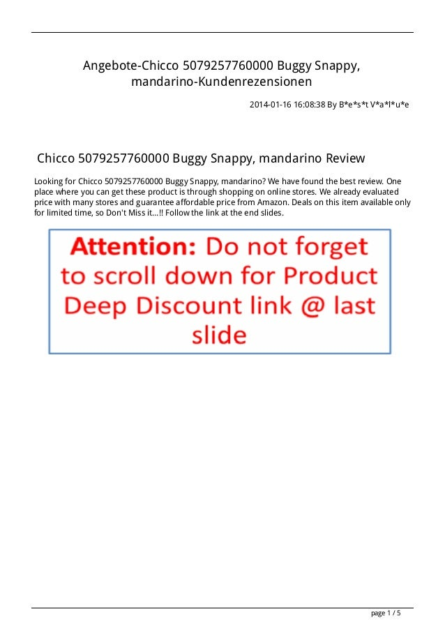 Angebote chicco-5079257760000-buggy-snappy-mandarino-kundenrezensionen(1)