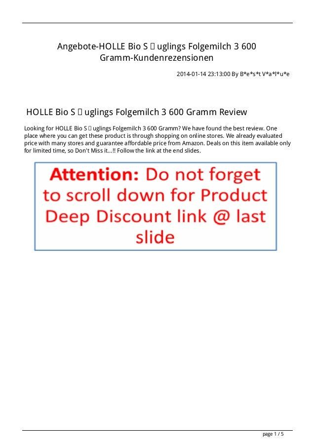 Angebote-HOLLE Bio Säuglings Folgemilch 3 600 Gramm-Kundenrezensionen 2014-01-14 23:13:00 By B*e*s*t V*a*l*u*e  HOLLE Bio ...