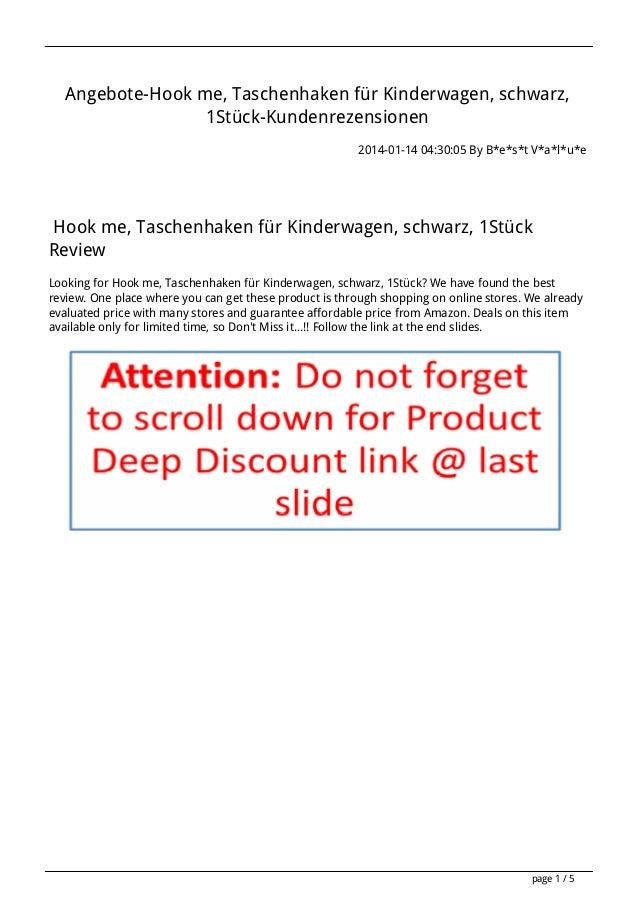 Angebote-Hook me, Taschenhaken für Kinderwagen, schwarz, 1Stück-Kundenrezensionen 2014-01-14 04:30:05 By B*e*s*t V*a*l*u*e...