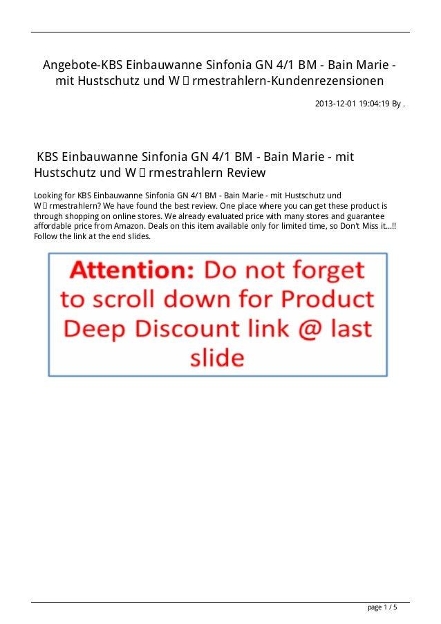 Angebote-KBS Einbauwanne Sinfonia GN 4/1 BM - Bain Marie mit Hustschutz und Wärmestrahlern-Kundenrezensionen 2013-12-01 19...