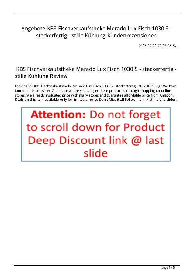 Angebote-KBS Fischverkaufstheke Merado Lux Fisch 1030 S steckerfertig - stille Kühlung-Kundenrezensionen 2013-12-01 20:16:...