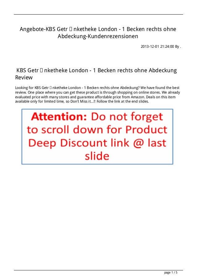 Angebote-KBS Getränketheke London - 1 Becken rechts ohne Abdeckung-Kundenrezensionen 2013-12-01 21:24:00 By .  KBS Getränk...