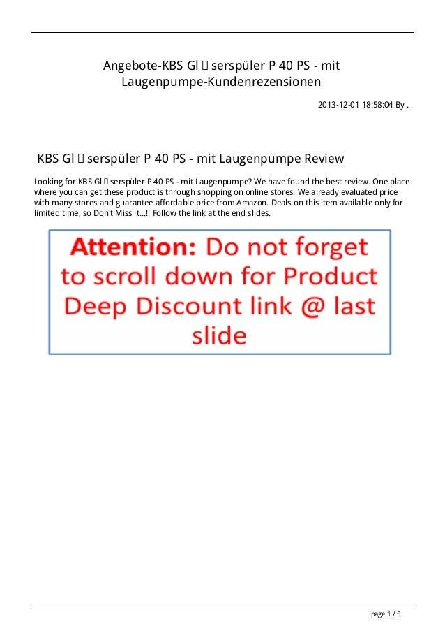 Angebote-KBS Gläserspüler P 40 PS - mit Laugenpumpe-Kundenrezensionen 2013-12-01 18:58:04 By .  KBS Gläserspüler P 40 PS -...