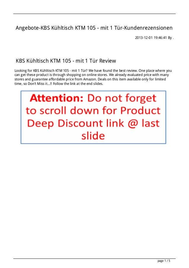 Angebote-KBS Kühltisch KTM 105 - mit 1 Tür-Kundenrezensionen 2013-12-01 19:46:41 By .  KBS Kühltisch KTM 105 - mit 1 Tür R...