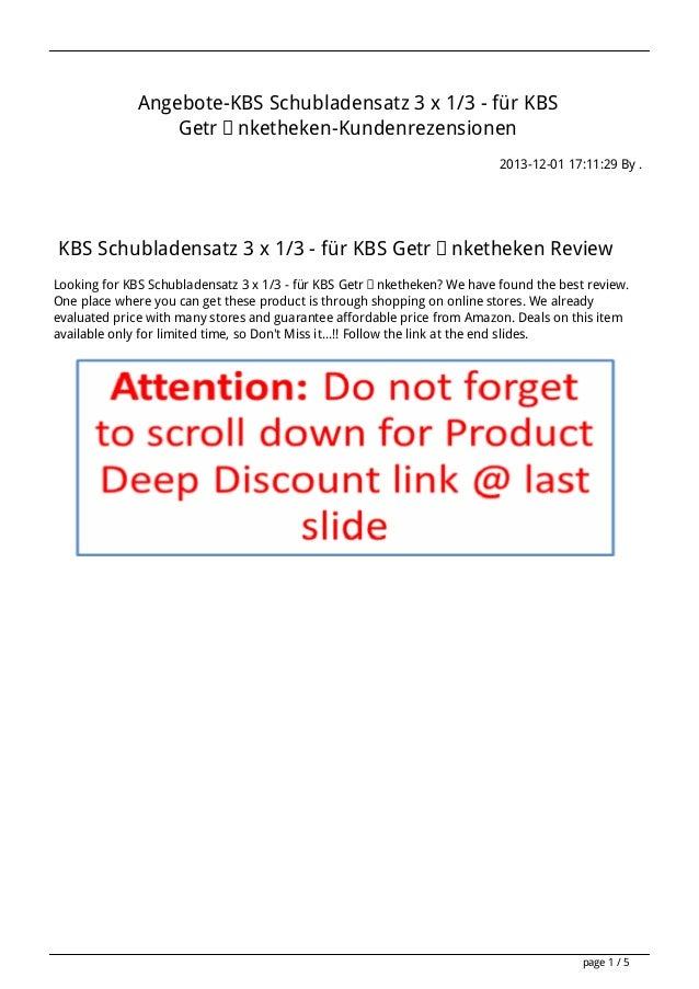 Angebote-KBS Schubladensatz 3 x 1/3 - für KBS Getränketheken-Kundenrezensionen 2013-12-01 17:11:29 By .  KBS Schubladensat...