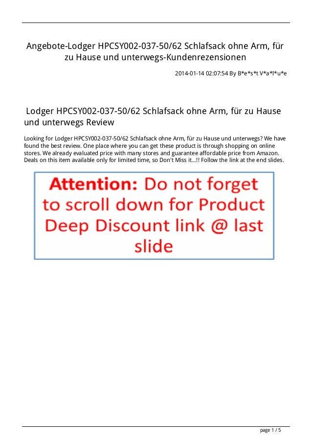 Angebote-Lodger HPCSY002-037-50/62 Schlafsack ohne Arm, für zu Hause und unterwegs-Kundenrezensionen 2014-01-14 02:07:54 B...
