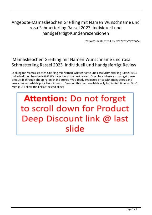 Angebote-Mamasliebchen Greifling mit Namen Wunschname und rosa Schmetterling Rassel 2023, individuell und handgefertigt-Ku...