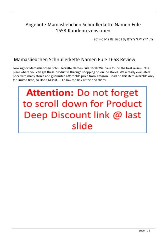 Angebote-Mamasliebchen Schnullerkette Namen Eule 1658-Kundenrezensionen 2014-01-19 02:56:08 By B*e*s*t V*a*l*u*e  Mamaslie...