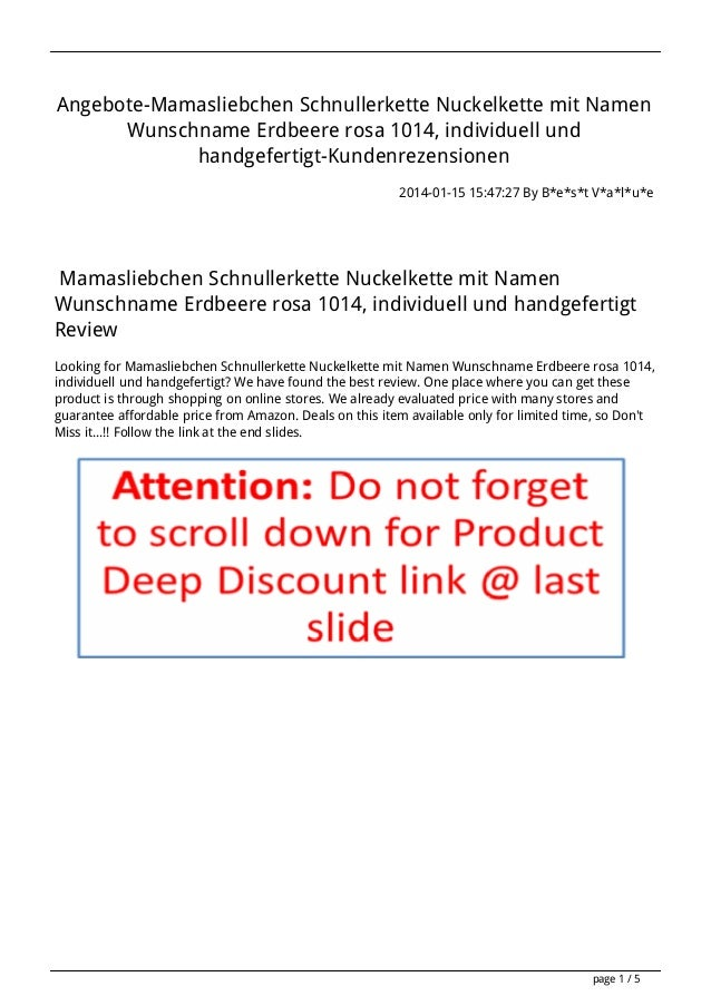 Angebote-Mamasliebchen Schnullerkette Nuckelkette mit Namen Wunschname Erdbeere rosa 1014, individuell und handgefertigt-K...