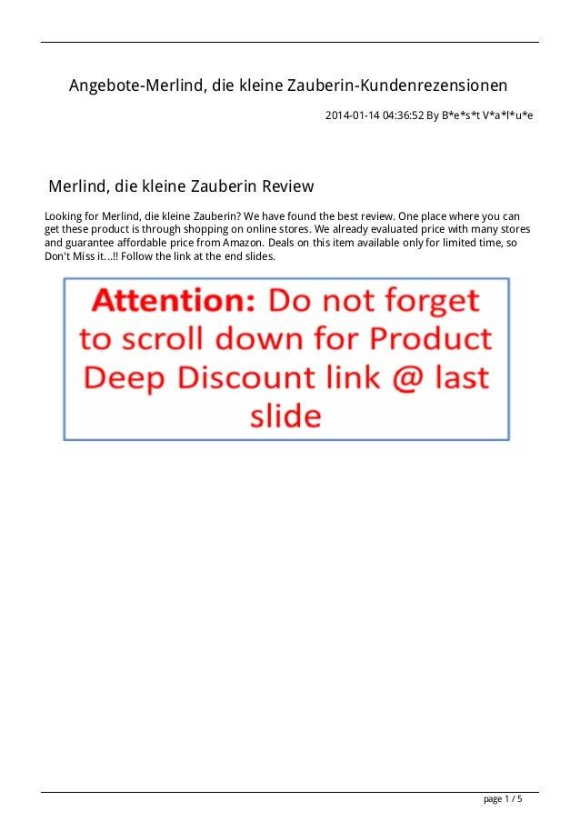 Angebote-Merlind, die kleine Zauberin-Kundenrezensionen 2014-01-14 04:36:52 By B*e*s*t V*a*l*u*e  Merlind, die kleine Zaub...