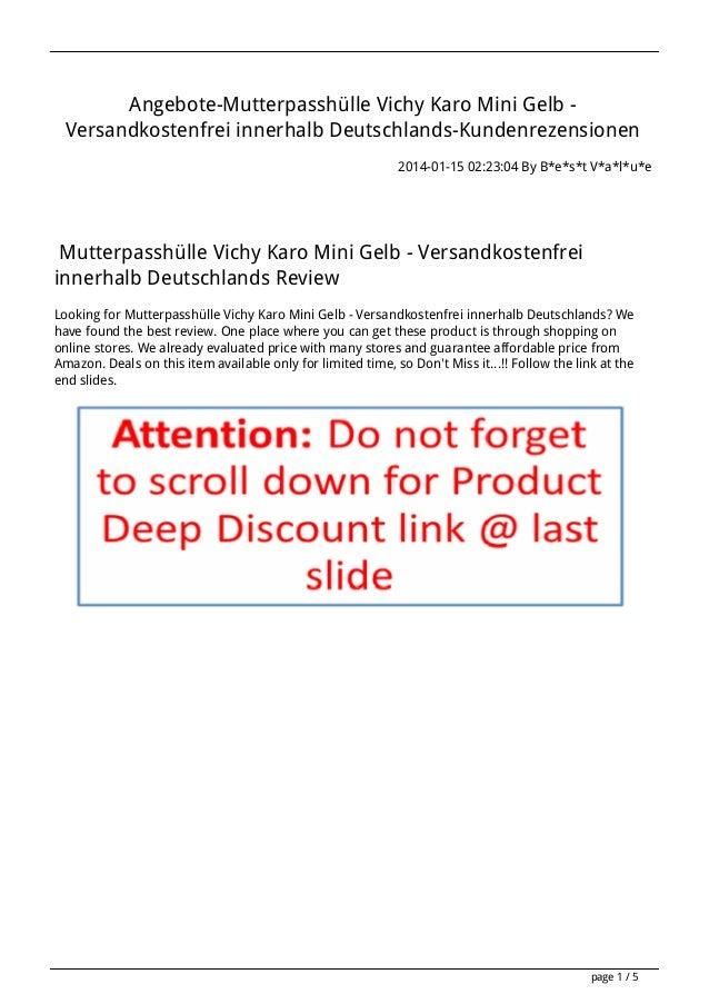Angebote-Mutterpasshülle Vichy Karo Mini Gelb Versandkostenfrei innerhalb Deutschlands-Kundenrezensionen 2014-01-15 02:23:...