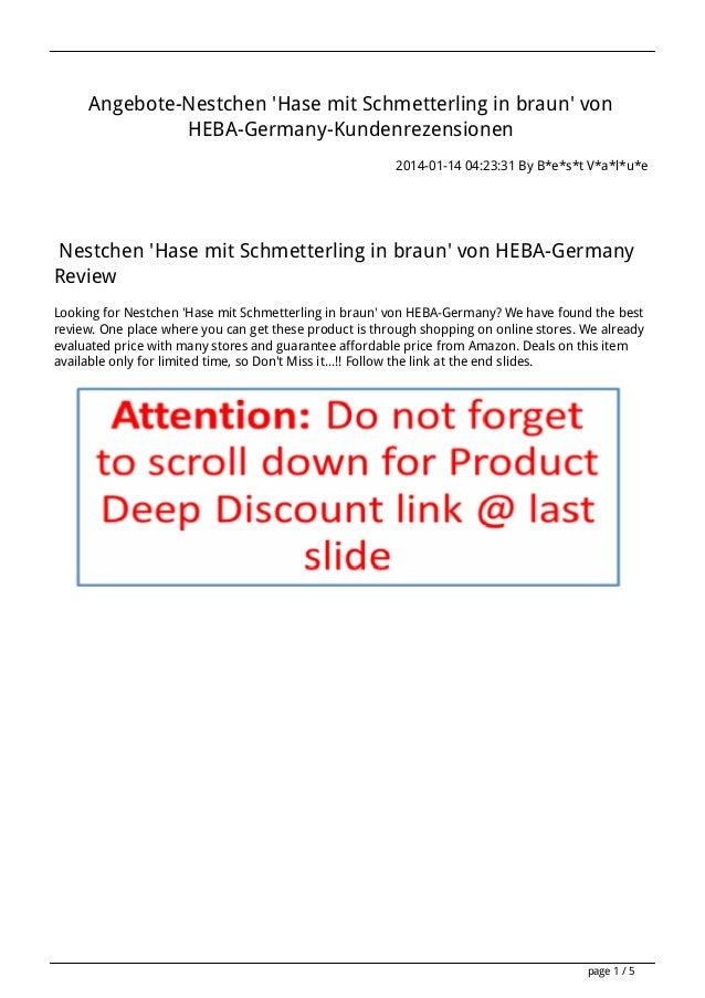 Angebote-Nestchen 'Hase mit Schmetterling in braun' von HEBA-Germany-Kundenrezensionen 2014-01-14 04:23:31 By B*e*s*t V*a*...