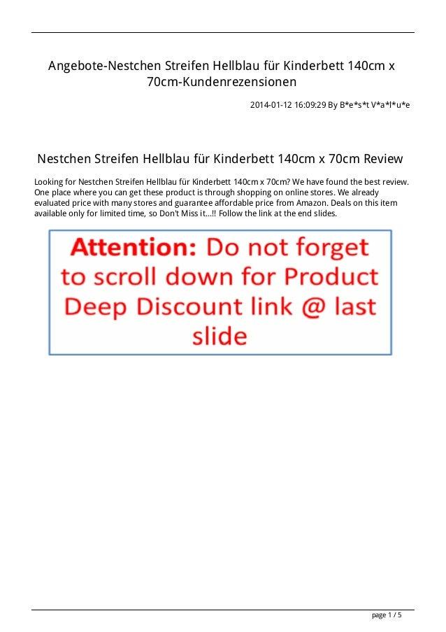 Angebote-Nestchen Streifen Hellblau für Kinderbett 140cm x 70cm-Kundenrezensionen 2014-01-12 16:09:29 By B*e*s*t V*a*l*u*e...