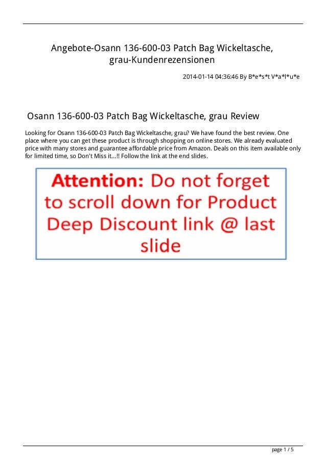 Angebote-Osann 136-600-03 Patch Bag Wickeltasche, grau-Kundenrezensionen 2014-01-14 04:36:46 By B*e*s*t V*a*l*u*e  Osann 1...