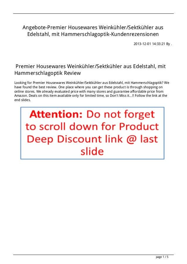 Angebote-Premier Housewares Weinkühler/Sektkühler aus Edelstahl, mit Hammerschlagoptik-Kundenrezensionen 2013-12-01 14:33:...