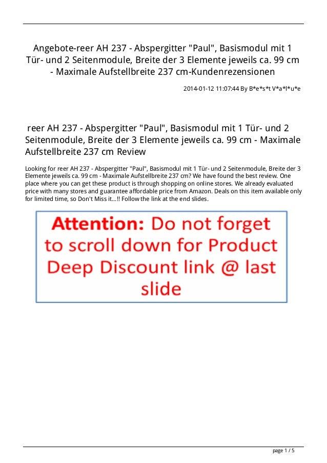 """Angebote-reer AH 237 - Abspergitter """"Paul"""", Basismodul mit 1 Tür- und 2 Seitenmodule, Breite der 3 Elemente jeweils ca. 99..."""