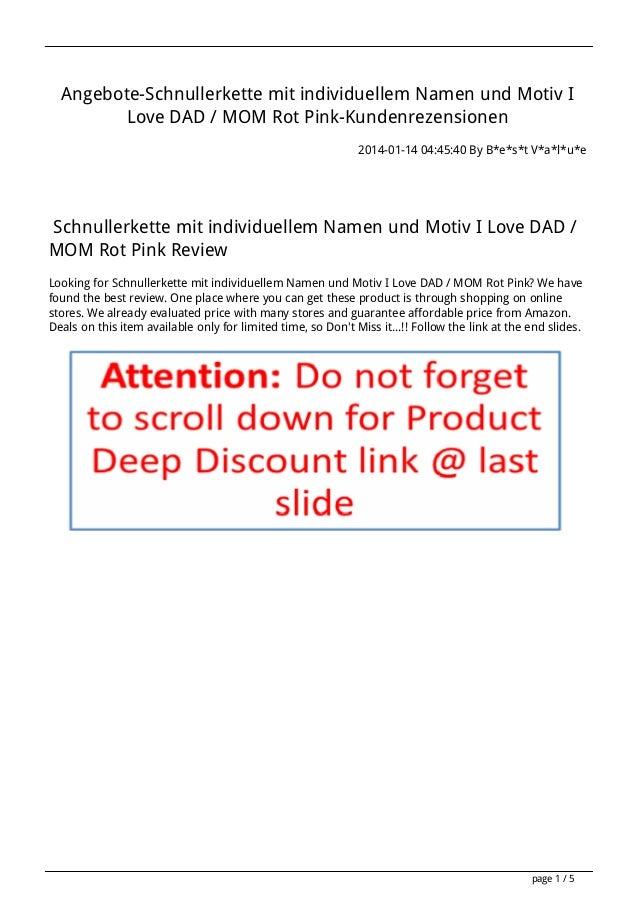 Angebote-Schnullerkette mit individuellem Namen und Motiv I Love DAD / MOM Rot Pink-Kundenrezensionen 2014-01-14 04:45:40 ...