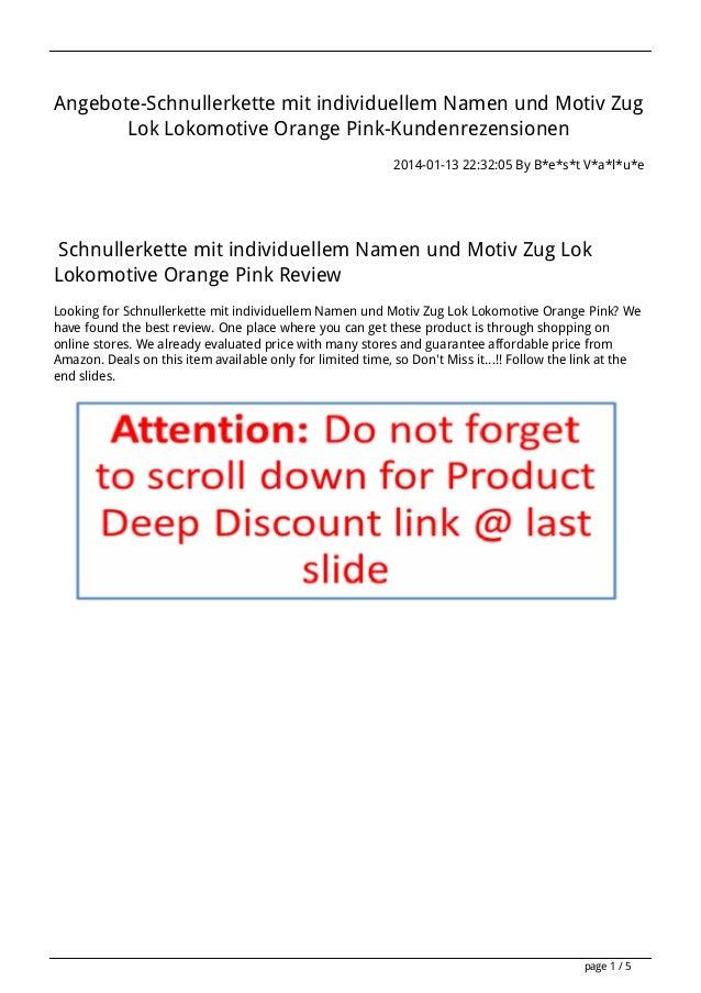 Angebote-Schnullerkette mit individuellem Namen und Motiv Zug Lok Lokomotive Orange Pink-Kundenrezensionen 2014-01-13 22:3...