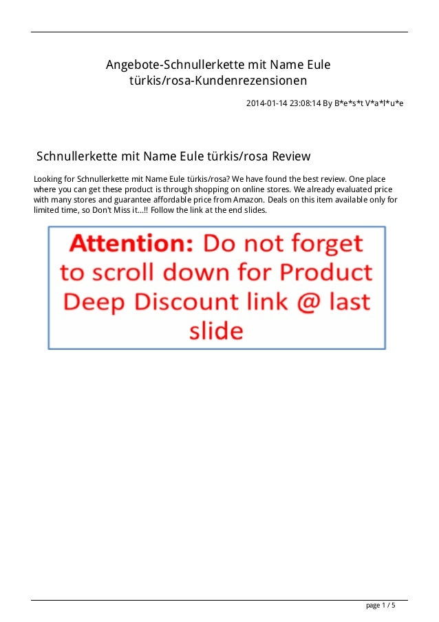 Angebote-Schnullerkette mit Name Eule türkis/rosa-Kundenrezensionen 2014-01-14 23:08:14 By B*e*s*t V*a*l*u*e  Schnullerket...