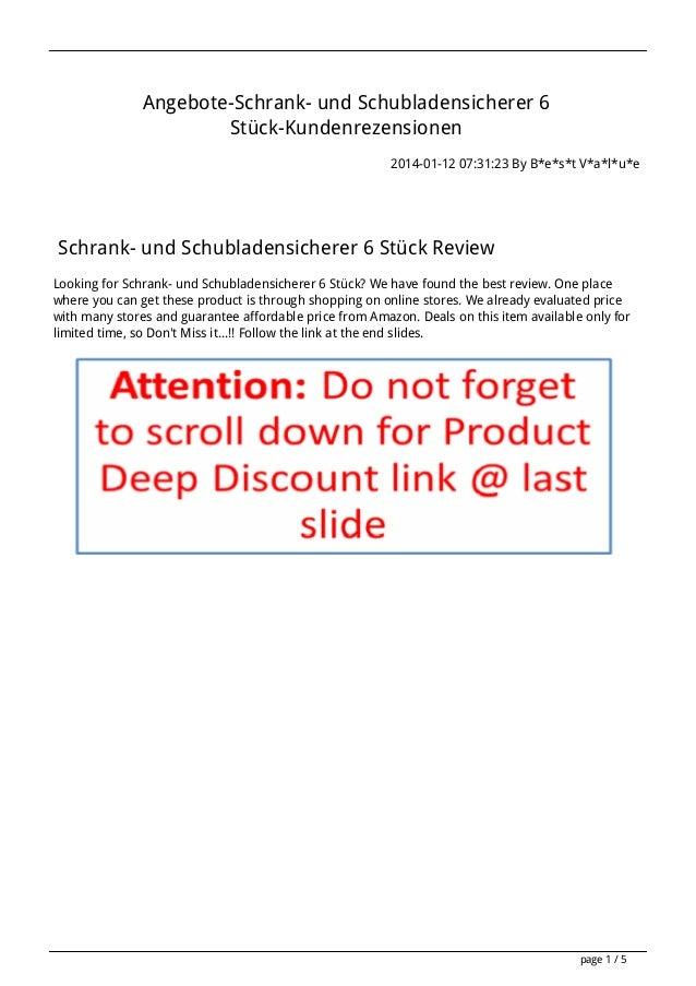 Angebote-Schrank- und Schubladensicherer 6 Stück-Kundenrezensionen 2014-01-12 07:31:23 By B*e*s*t V*a*l*u*e  Schrank- und ...