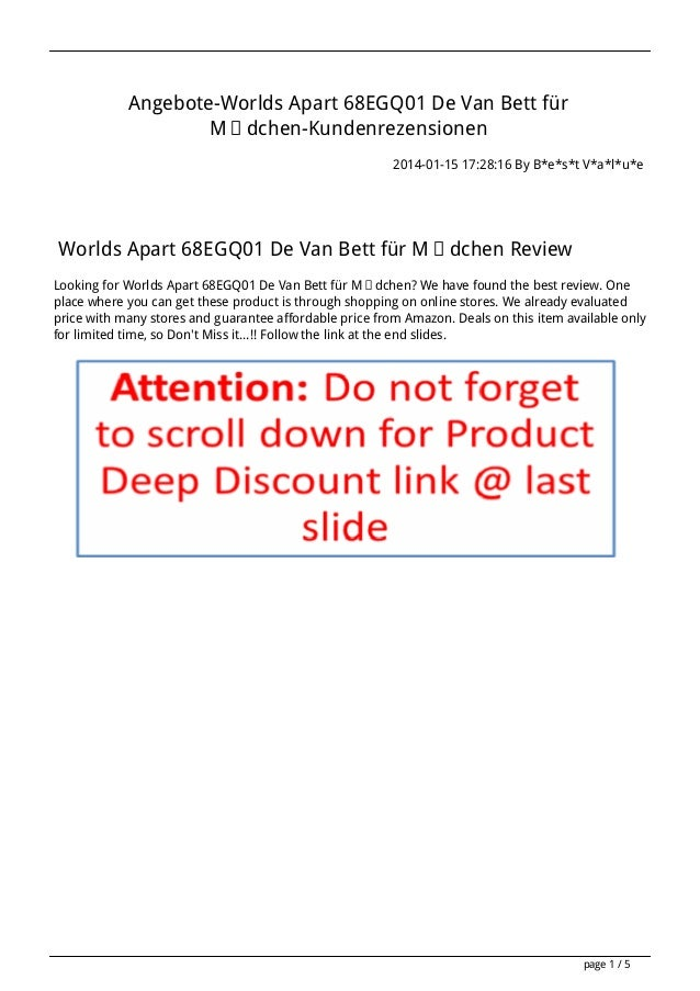 Angebote-Worlds Apart 68EGQ01 De Van Bett für Mädchen-Kundenrezensionen 2014-01-15 17:28:16 By B*e*s*t V*a*l*u*e  Worlds A...