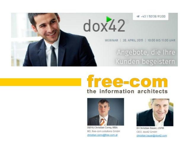 www.free-com.at Orgaisatorisches  Verbindung via Audio am Computer oder Telefon  Deutschland +49 (0) 692 5736 7327  Öst...