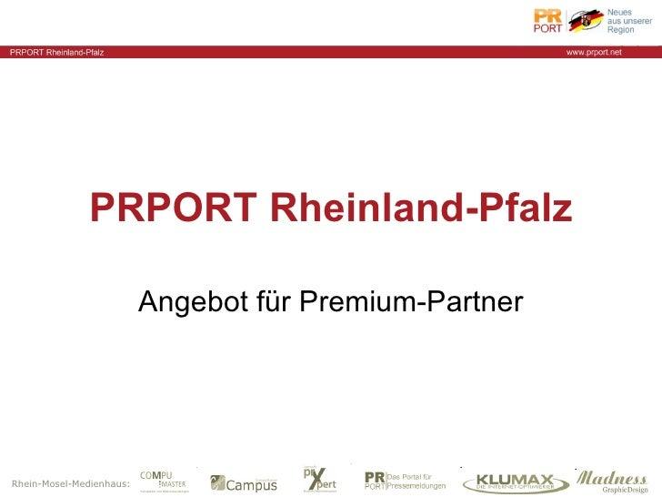 PRPORT Rheinland-Pfalz Angebot für Premium-Partner