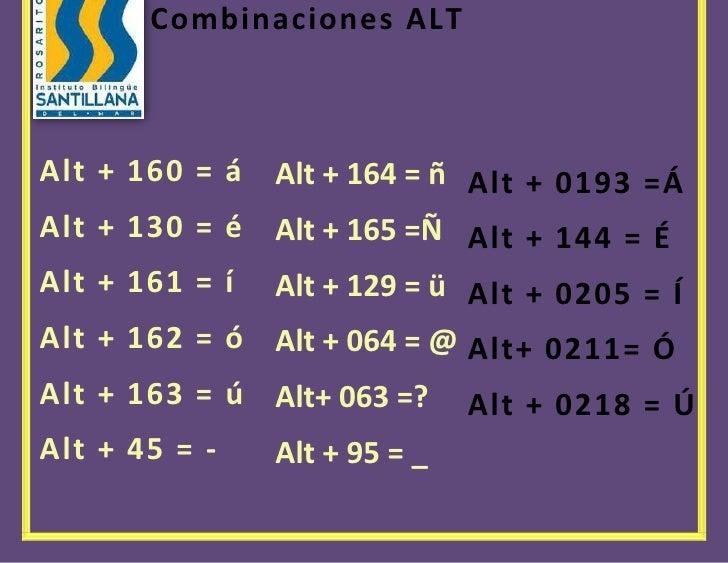 1228725585470Espacio para el texo00Espacio para el texo54578251271588Alt + 0193 =Á Alt + 144 = ÉAlt + 0205 = ÍAlt+ 0211= Ó...
