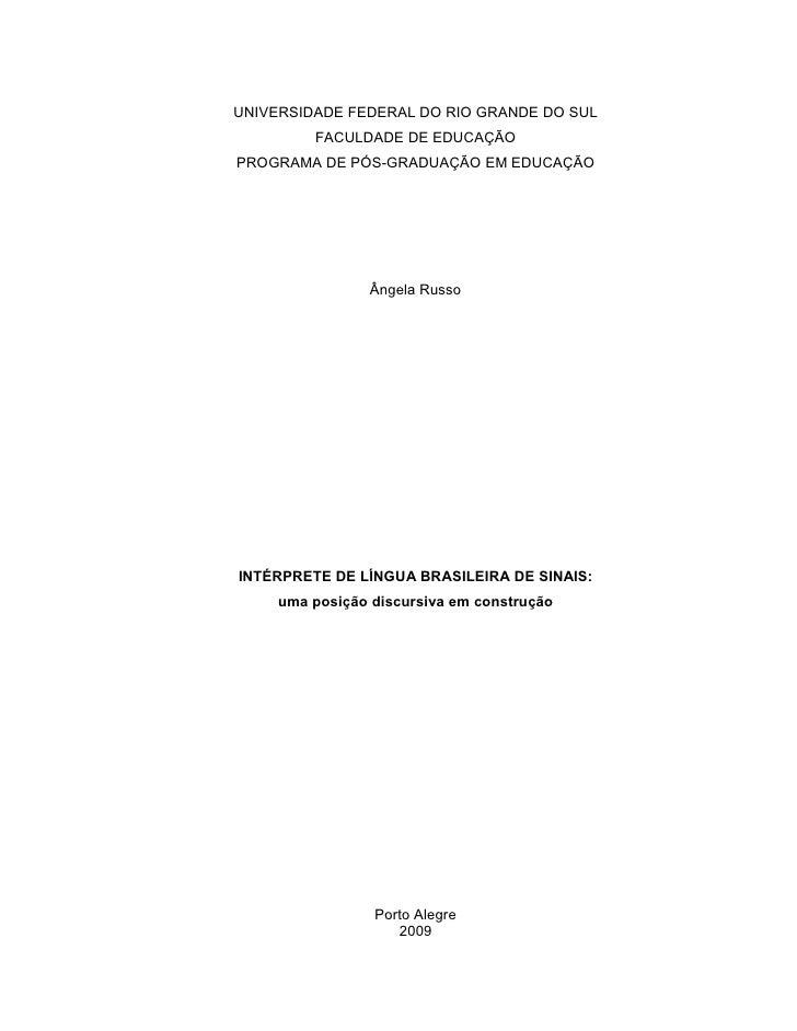 Angela Russo   DissertaçãO De Mestrado   2010
