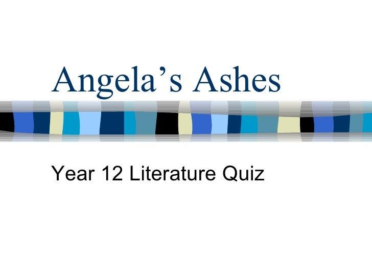Angela's Ashes Year 12 Literature Quiz