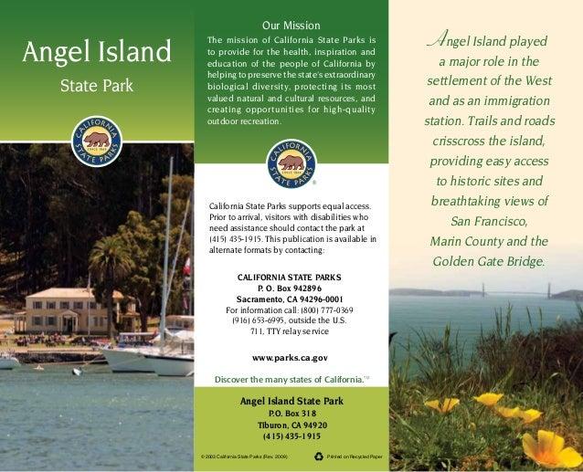 Angel Island State Park Brochure