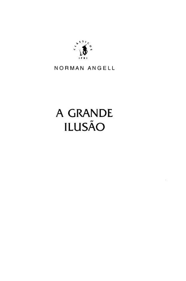 I P R I NORMAN ANGELL A GRANDE  -ILUSAO