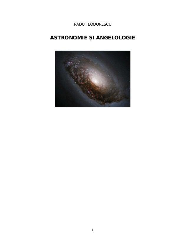 ANGELOLOGIE ŞI ASTRONOMIE
