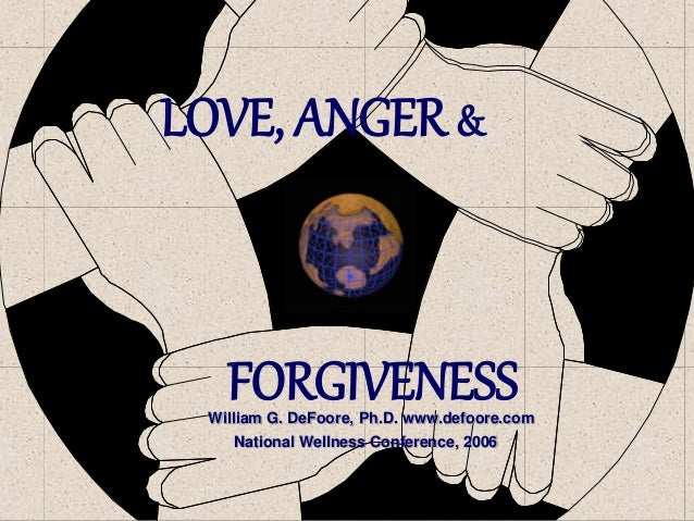 LOVE, ANGER & FORGIVENESSWilliam G. DeFoore, Ph.D. www.defoore.com National Wellness Conference, 2006