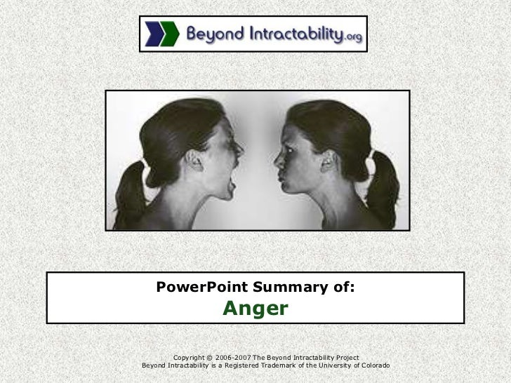 Copyright © 2006-2007 The Beyond Intractability ProjectBeyond Intractability is a Registered Trademark of the University o...