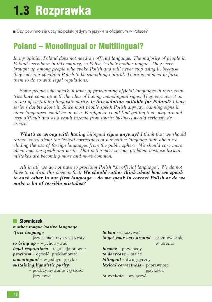 Rozprawka angielski opinion essay