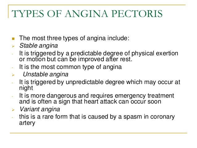 angina pectoris Myocardial infarction is a life-threatening condition that can lead to a person's death, while angina pectoris is a syndrome that also involves the heart.