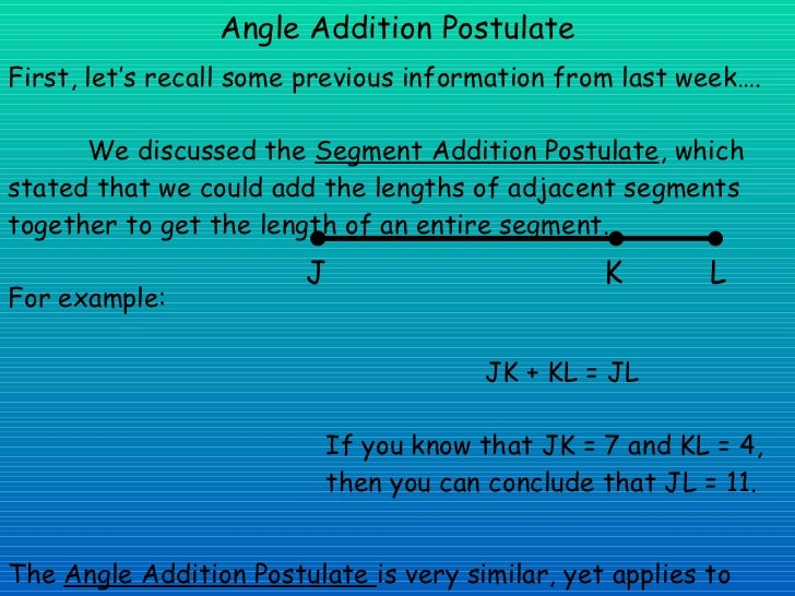 angle addition postulate presentation. Black Bedroom Furniture Sets. Home Design Ideas