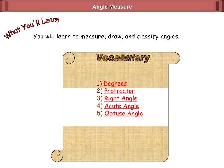 Angle Measure (Geometry 3_2)