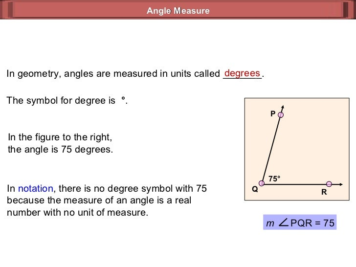 Angles Geometry Powerpoint in Geometry Angles Are