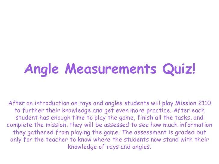 Angle Measurement Quiz