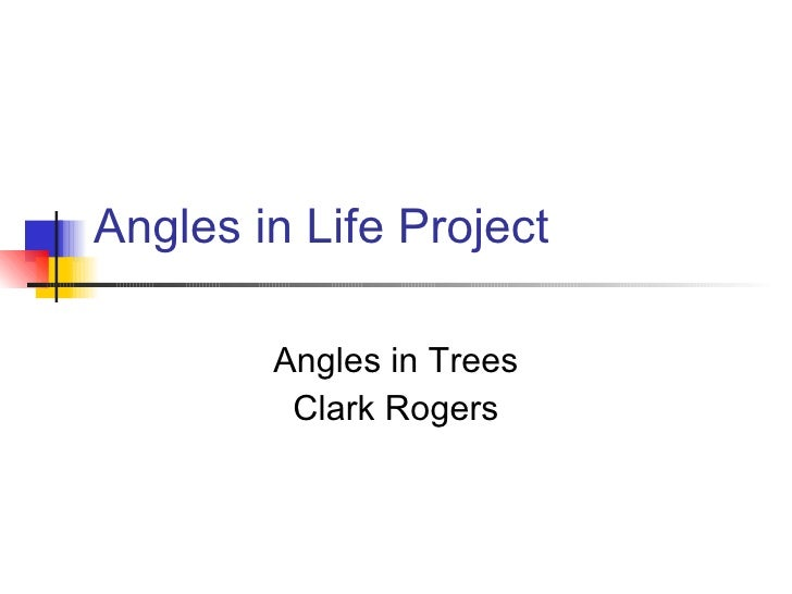 Angles in Life Project Angles in Trees Clark Rogers