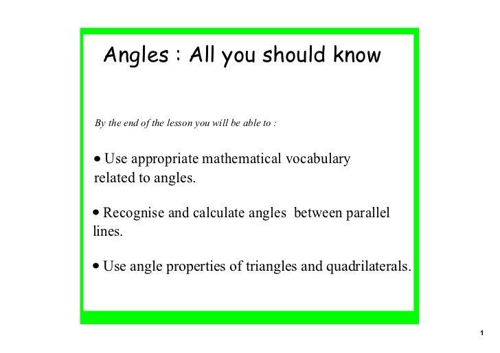 Angles 1