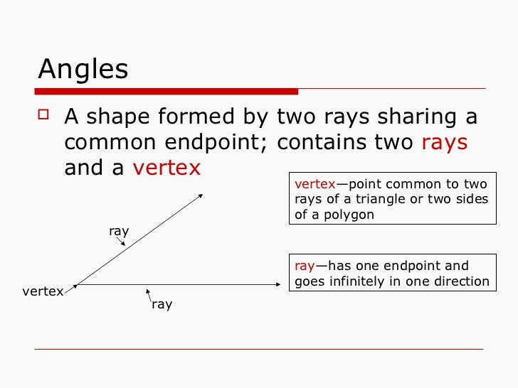 2 Rays That Share A Common Endpoint