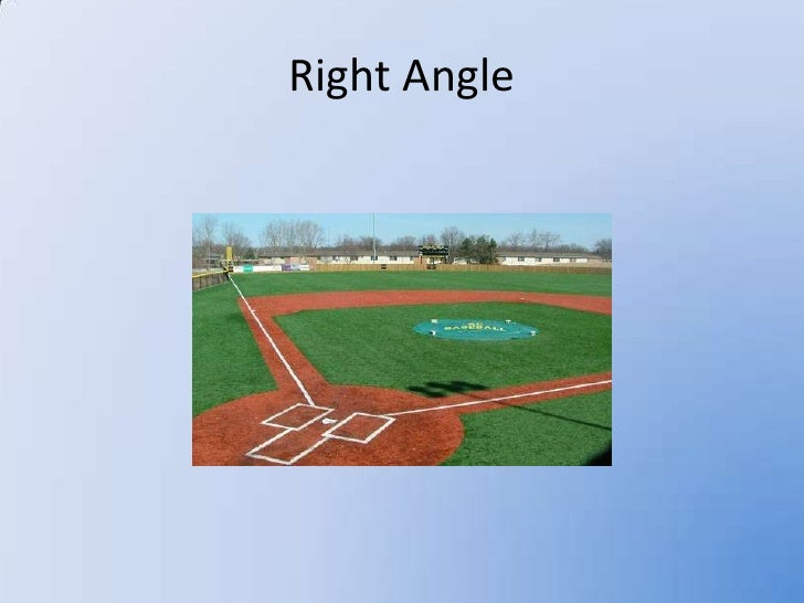Real Life Example Right Angle : Angles in sports